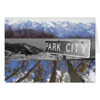 Park City tackkort med original- konst OBS Kort