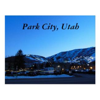 Park City Utah skida Vykort