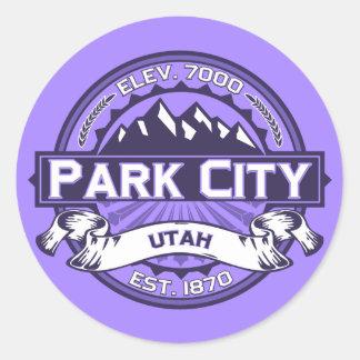 Park City Violet Runt Klistermärke