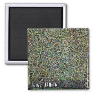 Parkera av Gustav Klimt Magnet