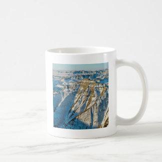 Parkera Badlands i vintern Dakota Vit Mugg