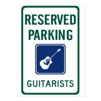 Parkera för gitarrist vykort