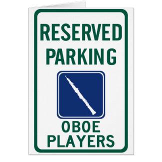 Parkera för Oboe spelare Hälsningskort
