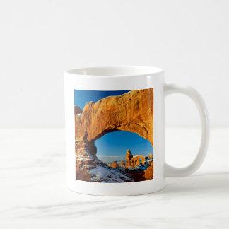 Parkera knapriga vinterdagbågar Utah Kaffemugg