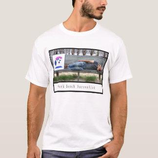 Parkera tar av planet surrealistiskt tee shirt