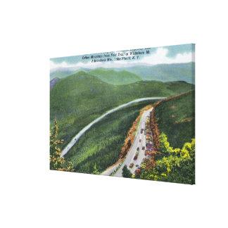 Parkeringsplats minnes- Hwy, Esther Mt Canvastryck