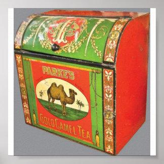 Parkes Tin för Tea för vintagedetaljist Poster
