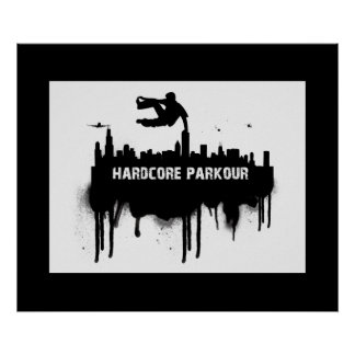 Parkour affisch poster