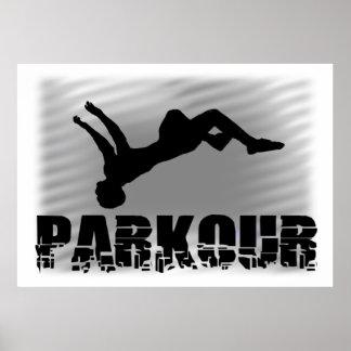 Parkour idrottsmanaffisch poster