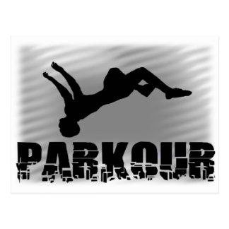 Parkour idrottsmanvykort vykort