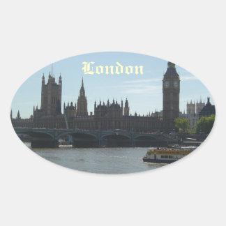 Parlament & stora Ben Ovalt Klistermärke