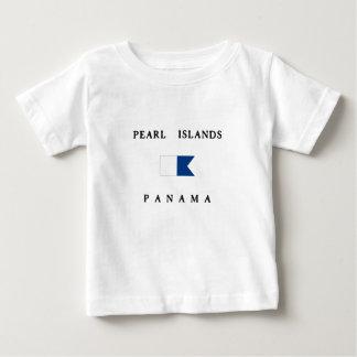 Pärlemorfärg flagga för dyk för öPanama alfabetisk Tee Shirt