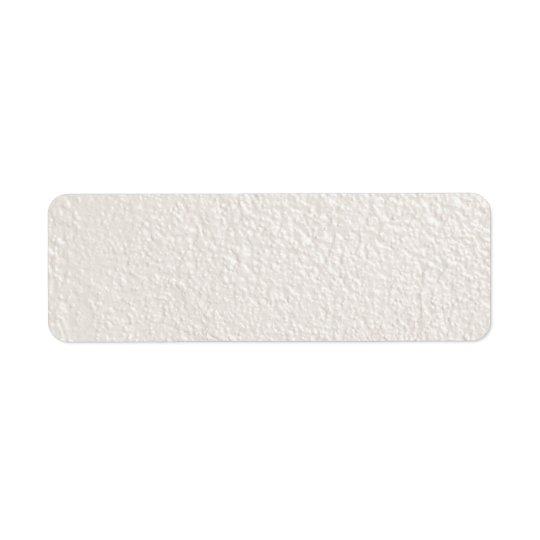 PÄRLEMORFÄRG krämigt - vit texturerade Returadress Etikett