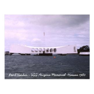 Pärlemorfärg minnesmärke Hawaii för hamn USS Vykort