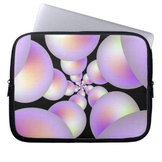 Pärlemorfärg spiral laptop sleeve
