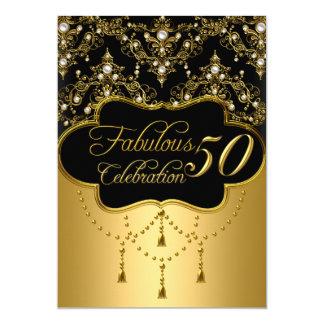 Pärlemorfärg vintageglamour femtio och sagolik 12,7 x 17,8 cm inbjudningskort