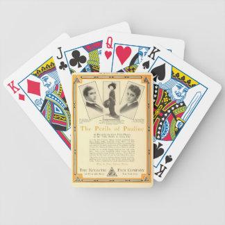 Pärlemorfärg vitrisker av den Pauline utställarean Spelkort