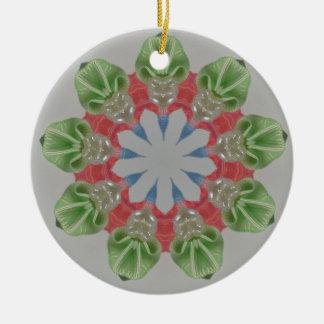 Pärlor och band för julFractal Julgransprydnad Keramik