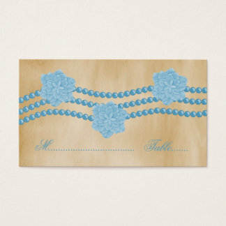 Pärlor och blommor som gifta sig ställekortet visitkort