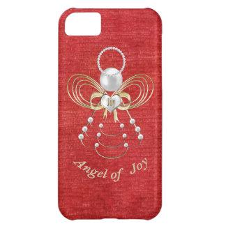 Pärlor och guld - metallisk julängel av glädje iPhone 5C fodral