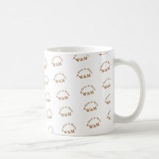 parmönster av namn - mr. mrs. personlig kaffemugg