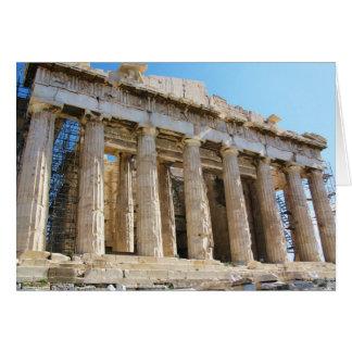 Parthenon Acropolis Athens Hälsningskort
