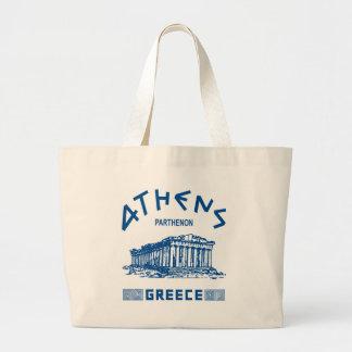 Parthenon - Athens - grek (blått) Jumbo Tygkasse