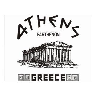 Parthenon - Athens - grek (svarten) Vykort