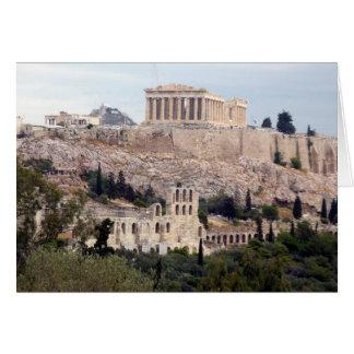 parthenon på acropolis hälsningskort