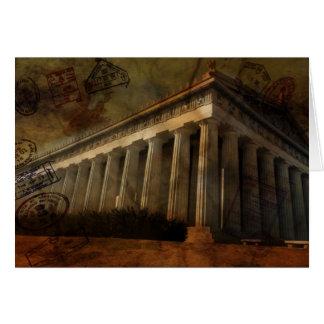 Parthenon tempel av Athena Hälsningskort