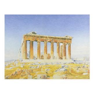 Parthenonen, c.1834 (över rita w/c på papper), vykort