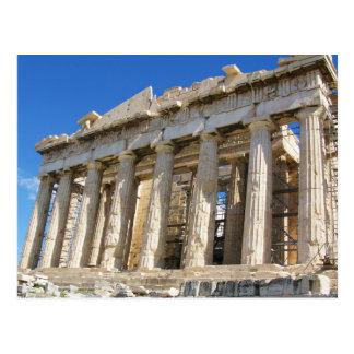Parthenonen på Acropolis 447 BC Vykort