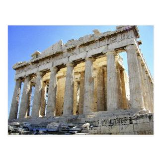 Parthenonen på acropolisen vykort