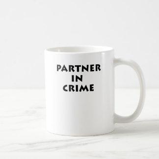 Partner - in - brott! vit mugg