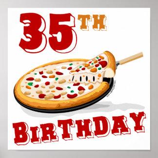 party för 35efödelsedagPizza Poster