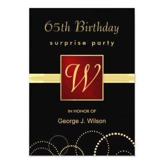 party för 65efödelsedagöverrrakning - elegant 12,7 x 17,8 cm inbjudningskort