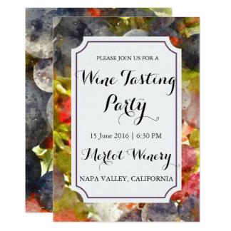 Party för avsmakning för vinodling- eller 12,7 x 17,8 cm inbjudningskort