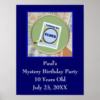 Party för barns födelsedag för poster