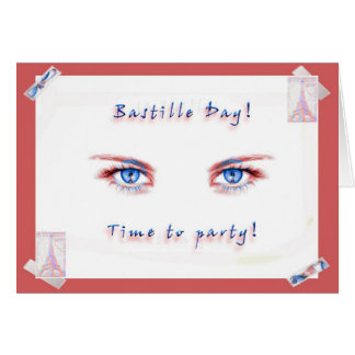 Party för Bastilledag! Hälsningskort