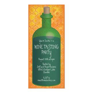 Party för Boho orange vinavsmakning 10,2 X 23,5 Cm Inbjudningskort