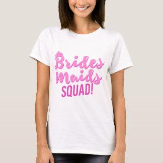Party för brudtärnaSquadBachelorette brud Tee Shirts
