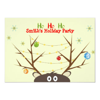 Party för familjrenjul personliga inbjudan