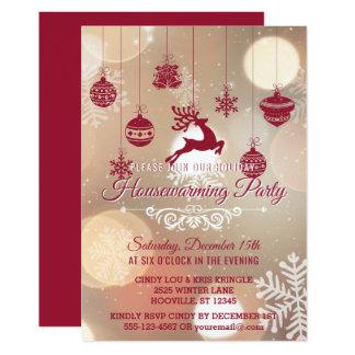 Party för helgdag för Bokeh snöflingorvinter 12,7 X 17,8 Cm Inbjudningskort