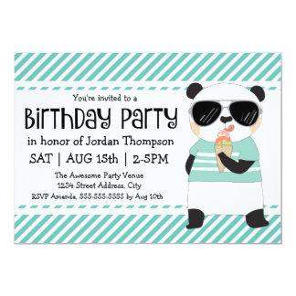 Party för HipsterPandabarns födelsedag 12,7 X 17,8 Cm Inbjudningskort