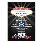 Party för inbjudan för födelsedag för Las Vegas