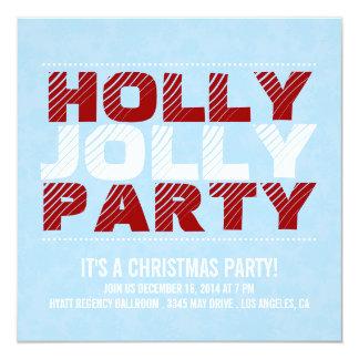 Party för järnek för julpartyinbjudan | Jolly Fyrkantigt 13,3 Cm Inbjudningskort