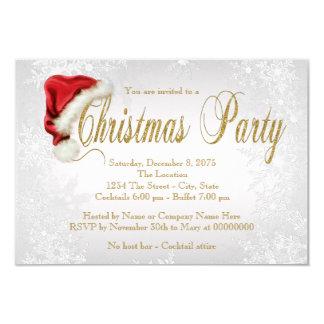 Party för jul för silverSnowflakeSanta hatt 8,9 X 12,7 Cm Inbjudningskort