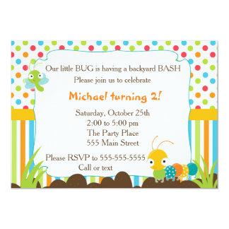 Party för krypinbjudanbarns födelsedag 12,7 x 17,8 cm inbjudningskort