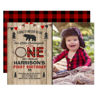 Party för Lumberjack för 12,7 X 17,8 Cm Inbjudningskort