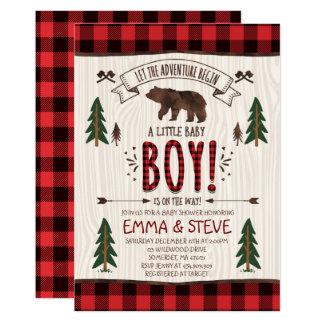 Party för Lumberjack för Lumberjackbaby 12,7 X 17,8 Cm Inbjudningskort